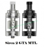 Fekete - Digiflavor Siren 2 GTA MTL clearomizer 4.5ml
